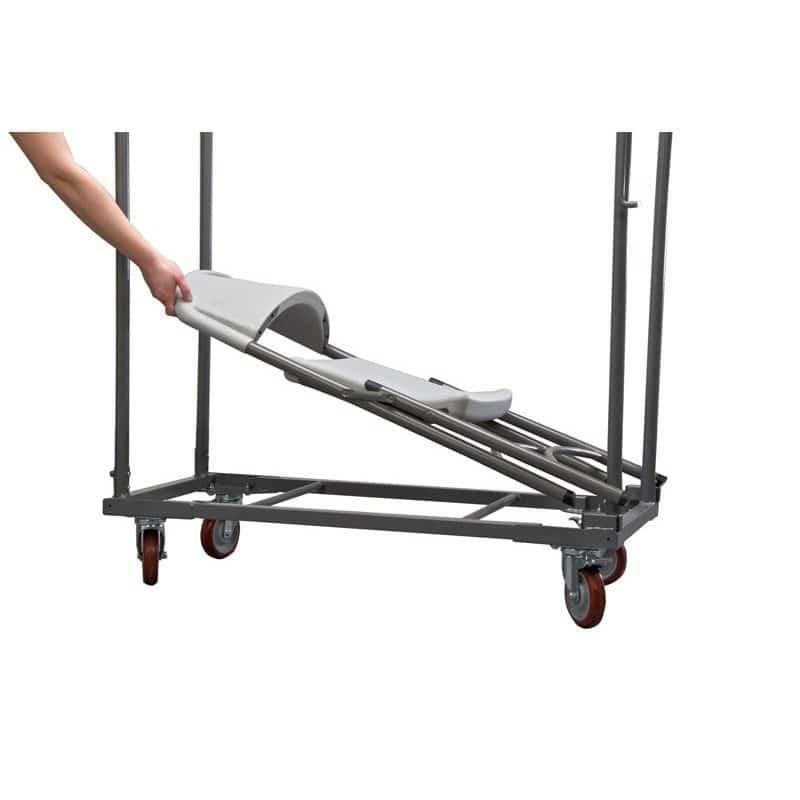 carro zown normantrolley para sillas plegables norman