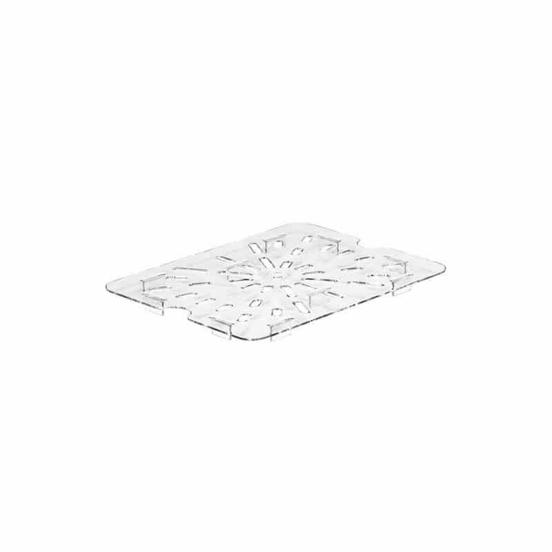fondo perforado gn 1/2 de policarbonato transparente