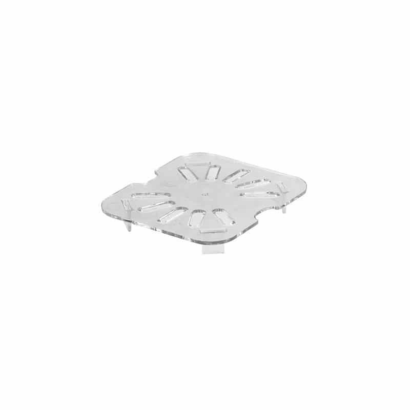 fondo perforado gn 1/6 de policarbonato transparente
