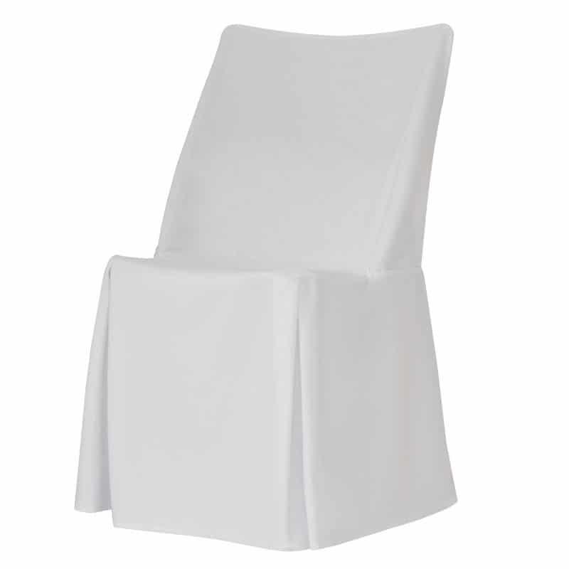 funda clasica blanca para silla otto