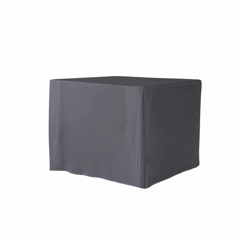 funda gris antracita lisa para mesa cuadrada 90x90cm