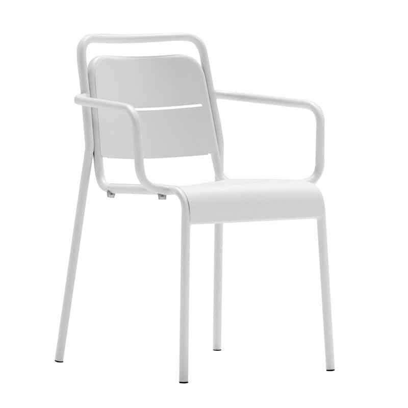 pack de 4 sillas metalicas con brazo alma