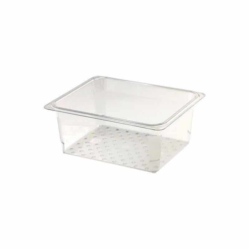 recipiente colador GN 1/2 de policarbonato transparente 12.7cm prof