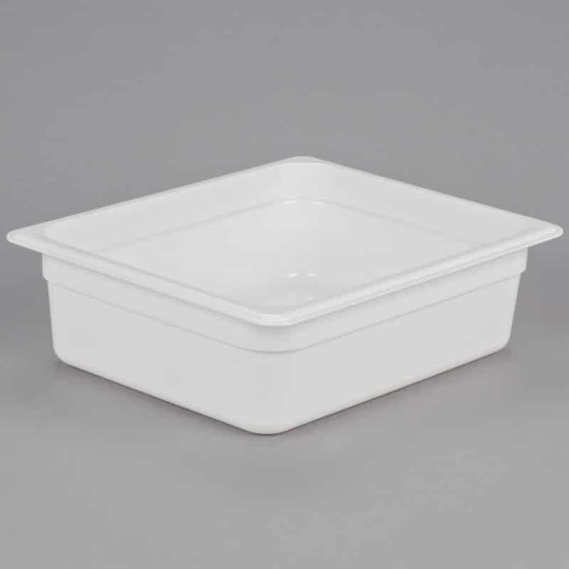 recipiente gn 1/2 de policarbonato blanco 10cm prof de 5.9l