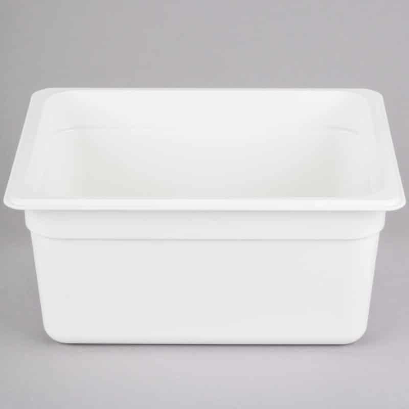 recipiente gn 1/2 de policarbonato blanco 15cm prof de 8.9l