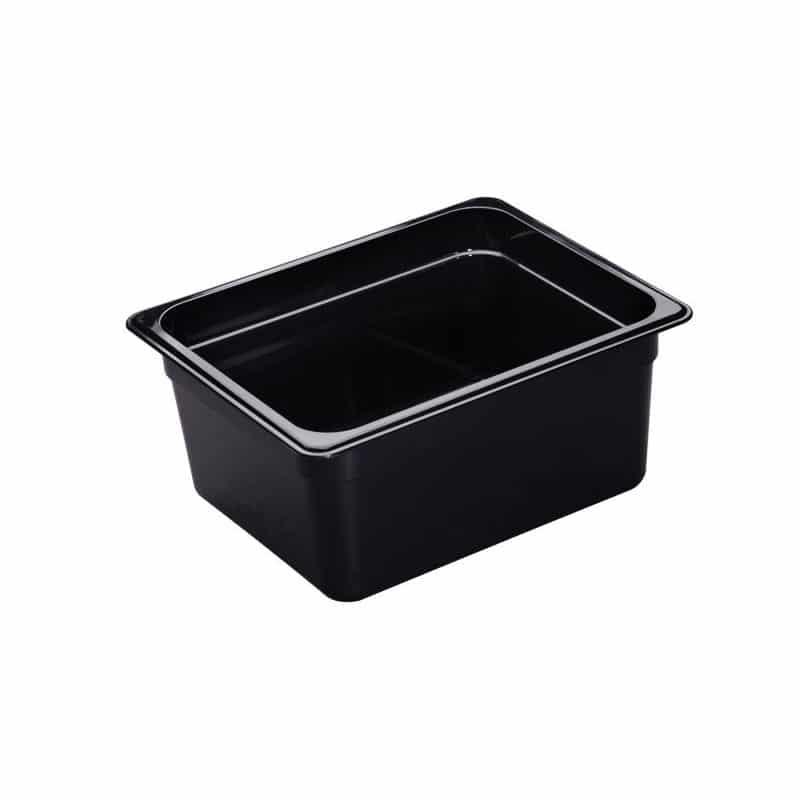 recipiente gn 1/2 de policarbonato negro 15cm prof de 8.9l