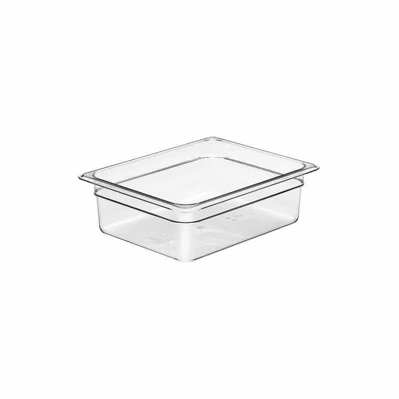 recipiente gn 1/2 de policarbonato transparente 10cm prof de 5.9l