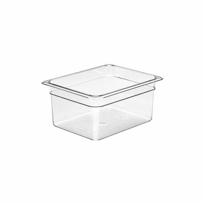 recipiente gn 1/2 de policarbonato transparente 15cm prof de 8.9l