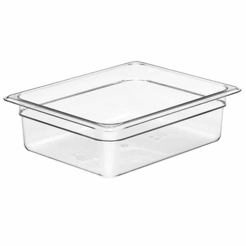recipiente gn 1/2 de policarbonato transparente 6.5cm prof de 3.9l