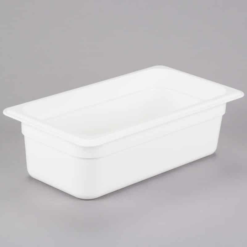 recipiente gn 1/3 de policarbonato blanco 10cm prof de 3.6l