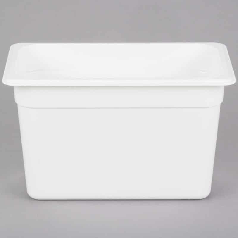 recipiente GN 1/3 de policarbonato blanco 20cm. Prof. de 6.9l