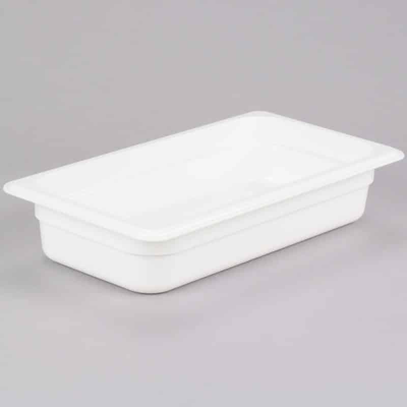 recipiente gn 1/3 de policarbonato blanco 6.5cm prof de 2.4l
