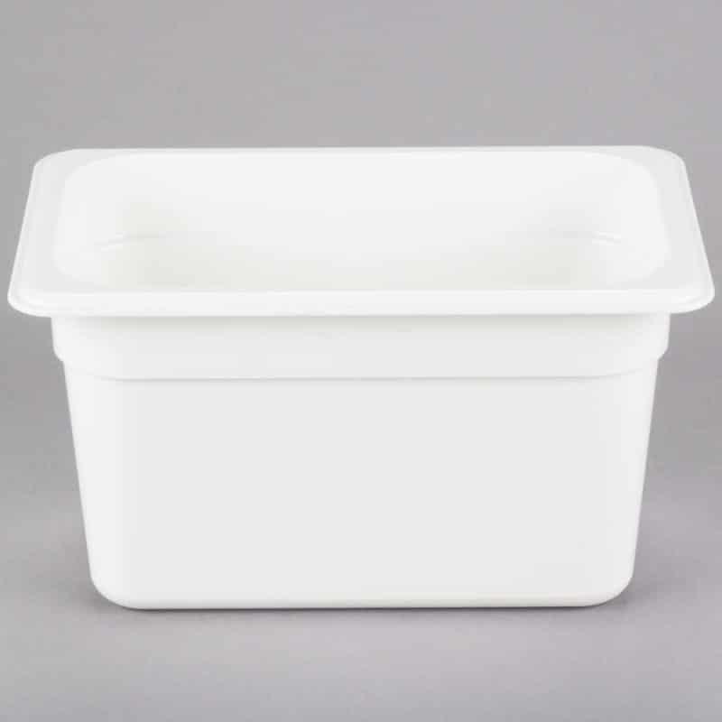 recipiente gn 1/4 de policarbonato blanco 15cm prof de 3.7l
