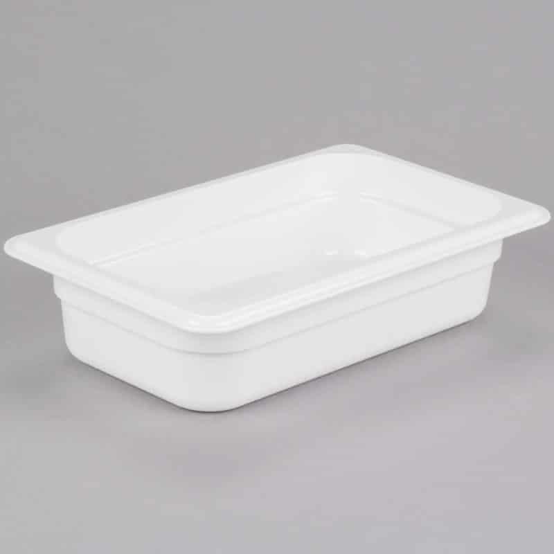 recipiente gn 1/4 de policarbonato blanco 6.5cm prof de 1.7l