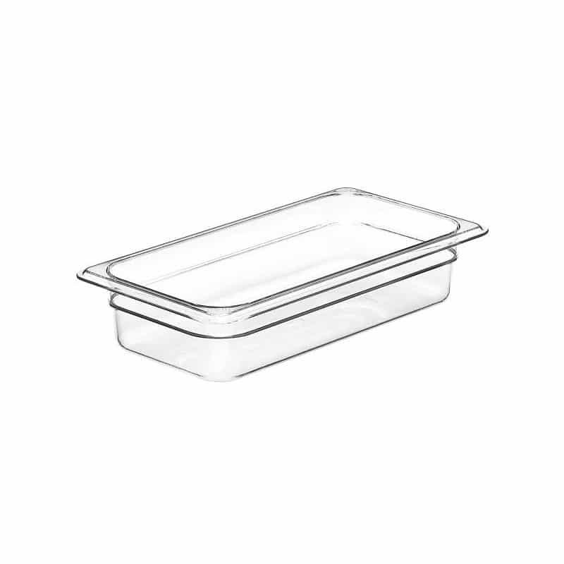 recipiente gn 1/4 de policarbonato transparente 6.5cm prof. de 1.7l