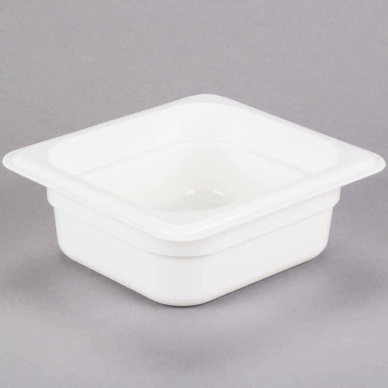 recipiente gn 1/6 de policarbonato blanco 6.5cm prof de 1l