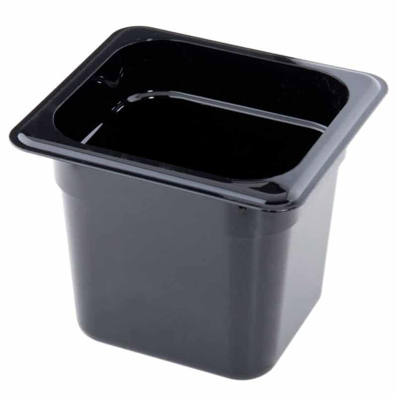 recipiente GN 1/6 de policarbonato negro 15cm prof de 2.2L