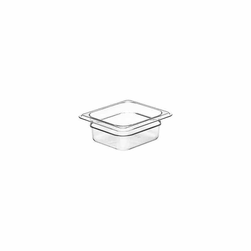 recipiente gn 1/6 de policarbonato transparente 6.5cm prof de 1l