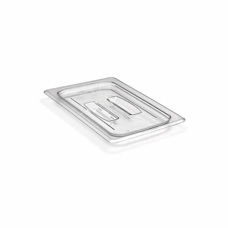 tapa con asa gn 1/4 de policarbonato transparente