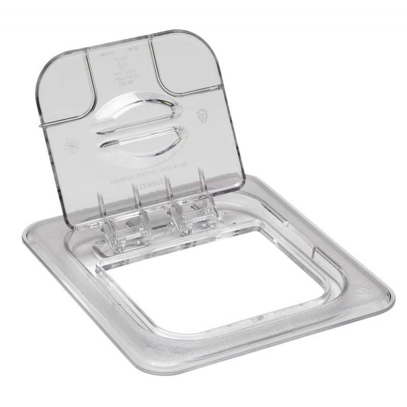 tapa con bisagra fliplid de policarbonato para uso alimentario