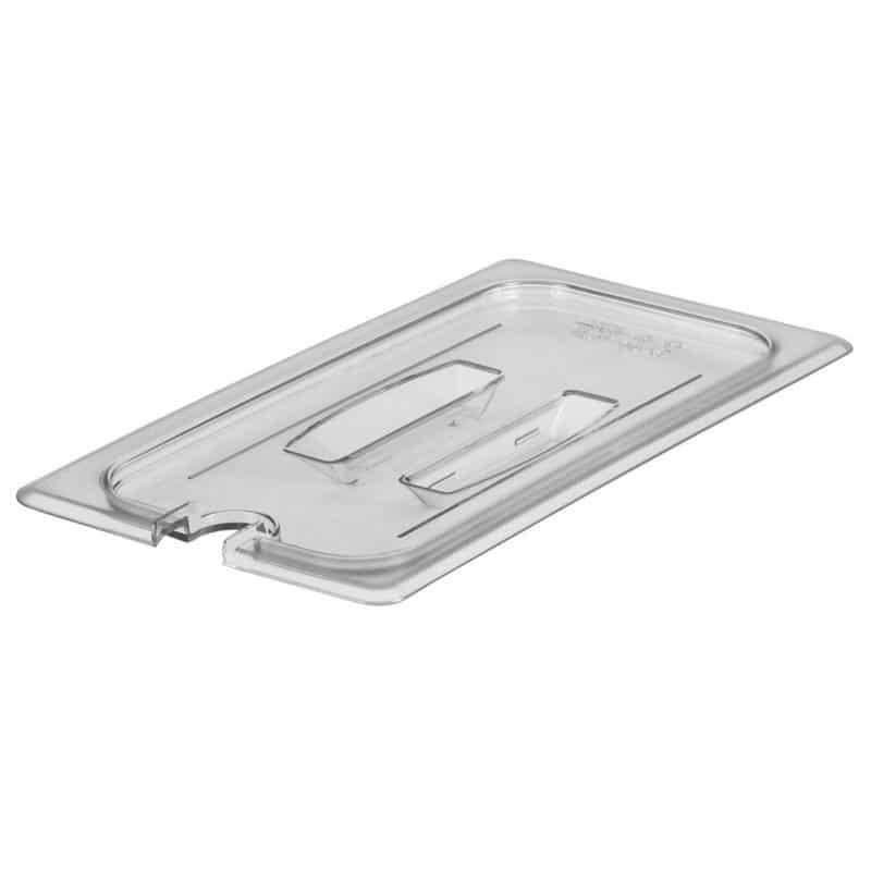 tapa con muesca y asa GN 1/3 de policarbonato transparente