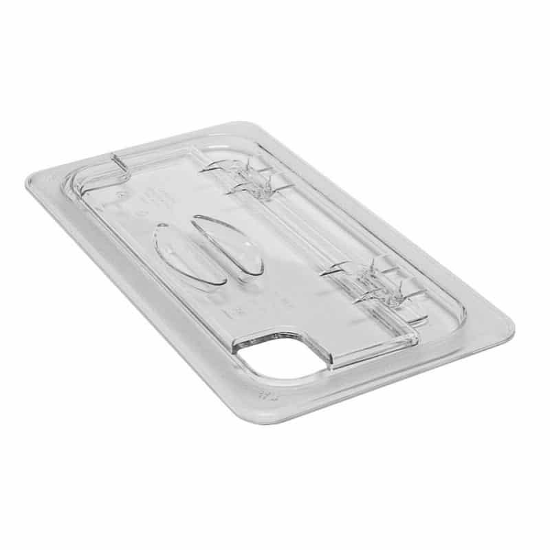 tapa fliplid con muesca gn 1/3 de policarbonato transparente