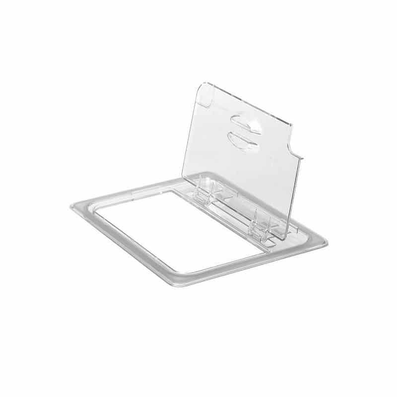 tapa fliplid con muesca gn 1/6 de policarbonato transparente