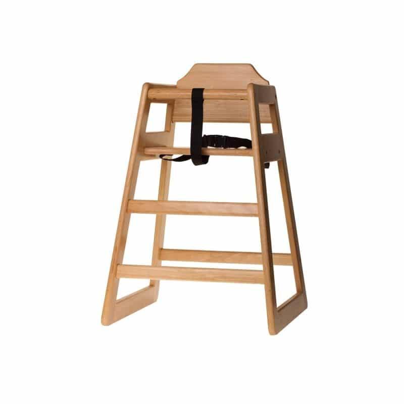 trona de madera natural