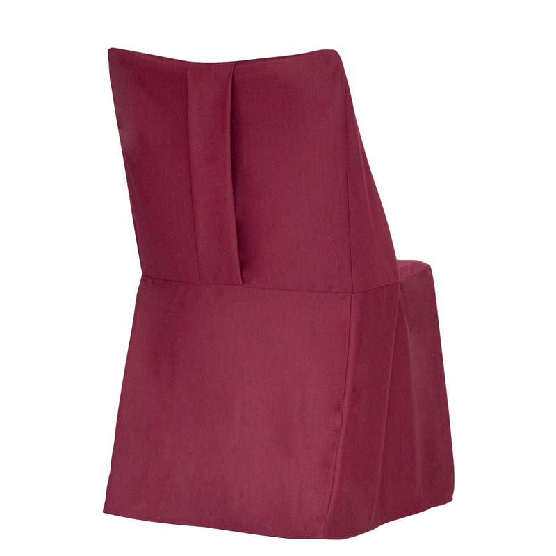 funda clasica para silla Otto color burdeos