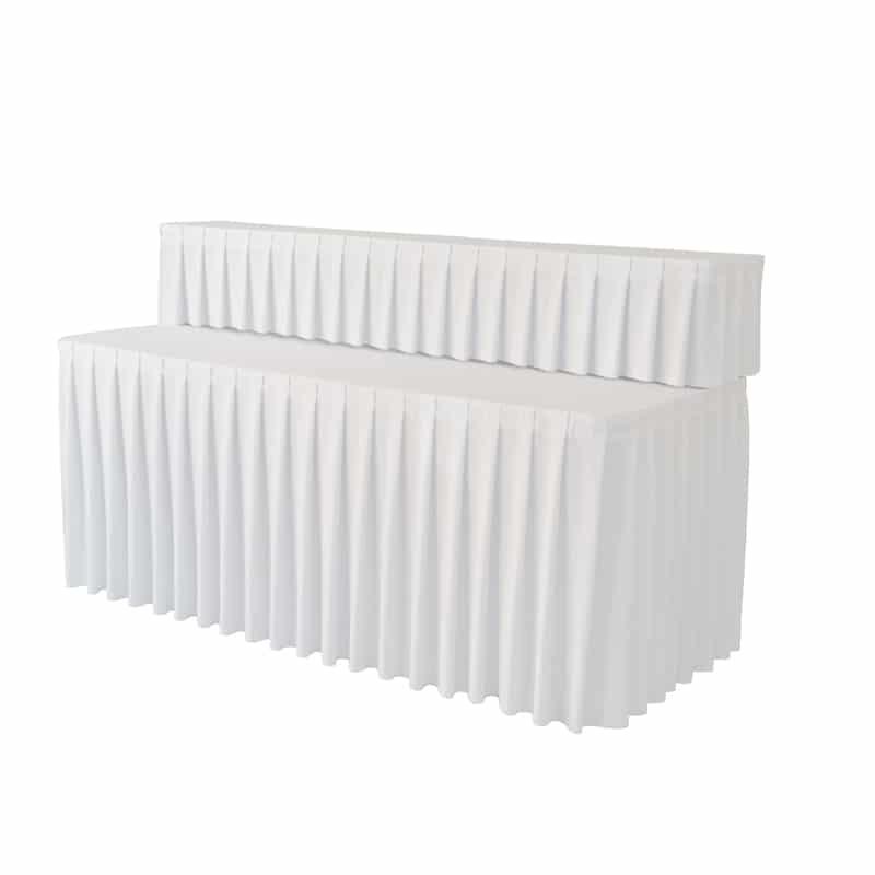 funda plisada para mesa Buffet blanca