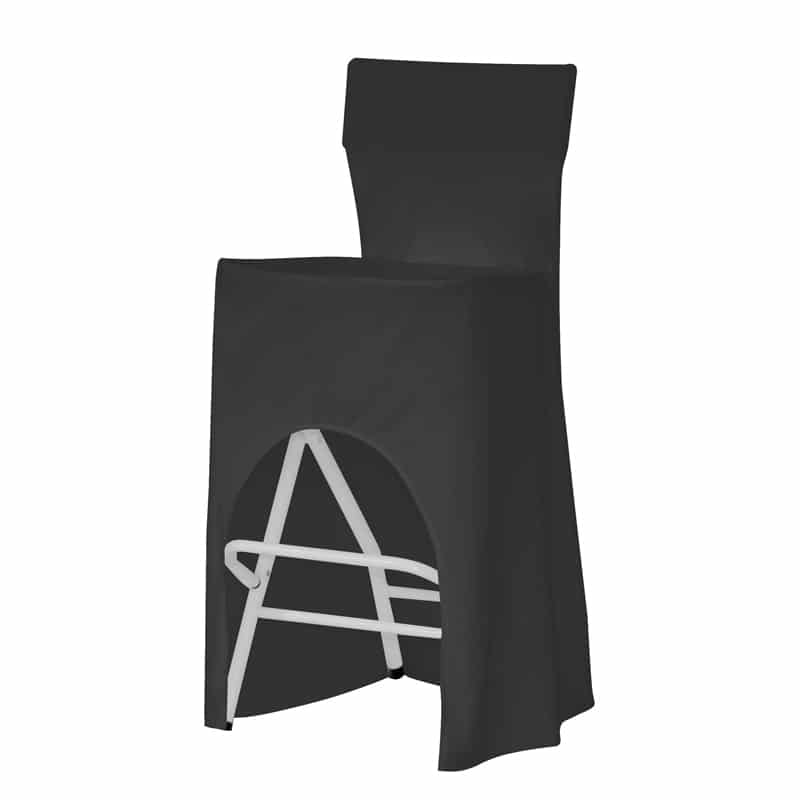 funda clasica para taburete alvar negro