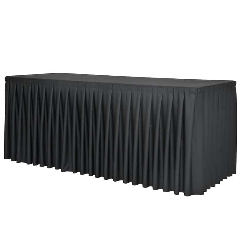 funda plisada para mesa XL180 negro