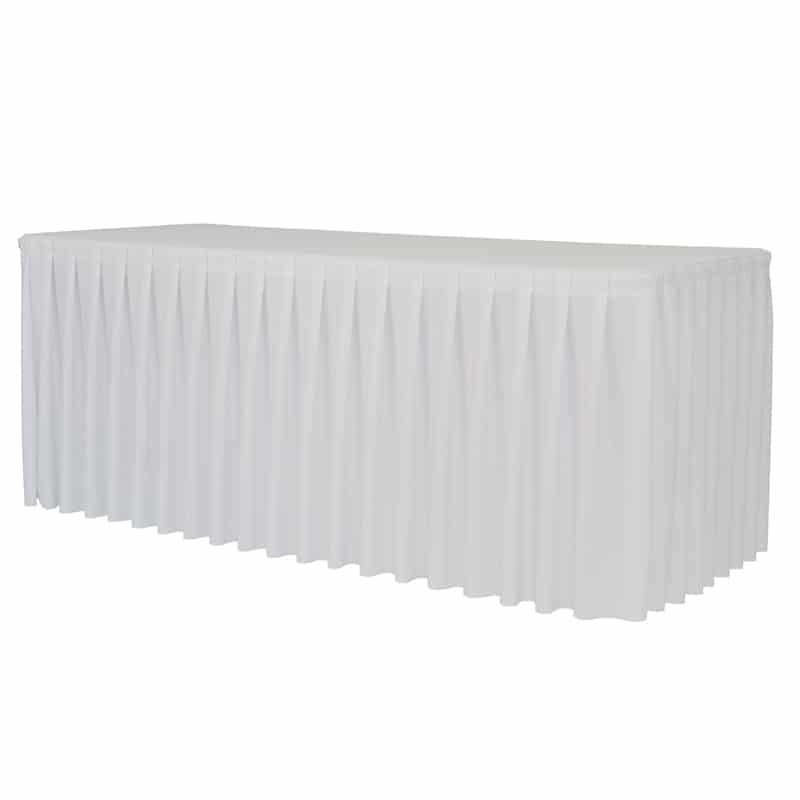 funda plisada para mesa xxl200 color blanco