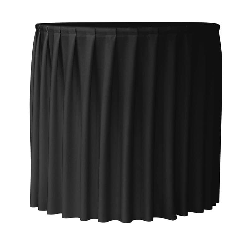 funda plisada para mesa redonda Praxis80 color negro