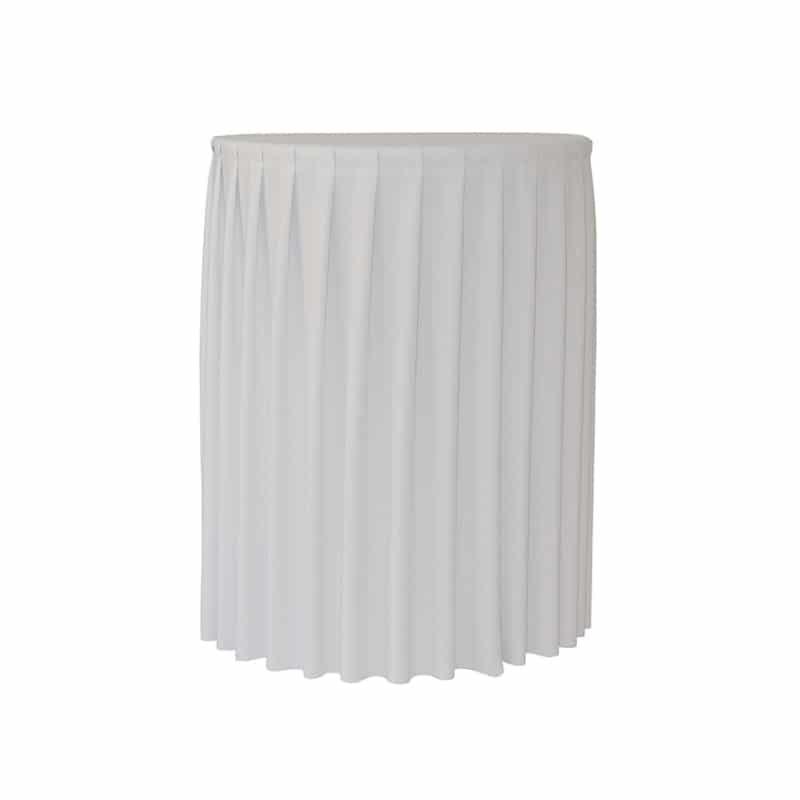 Funda plisada blanca para mesa Cocktail