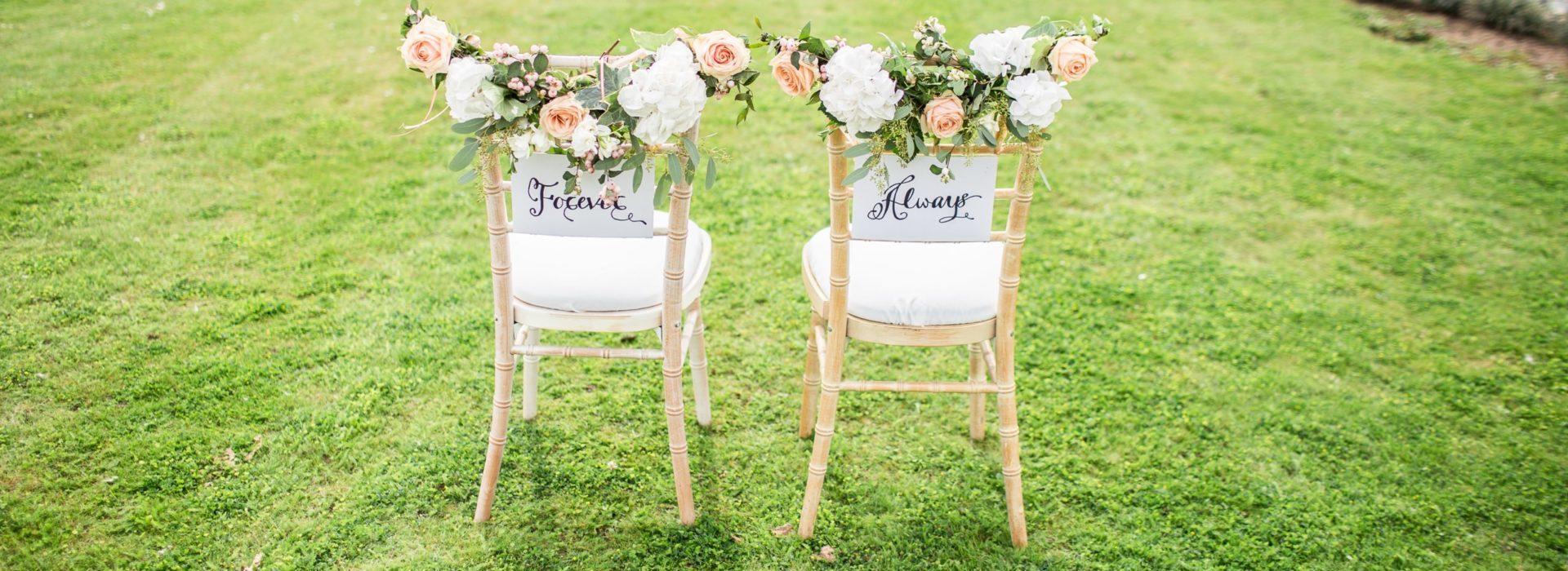 Decoración de sillas para boda
