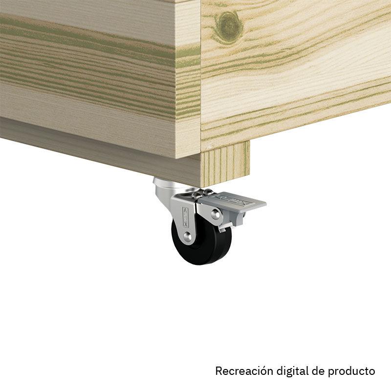 Recreación digital de set de 4 ruedas para jardinera